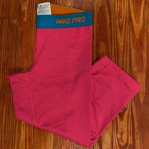 Pink Nike Pro leggings- Dri-Fit